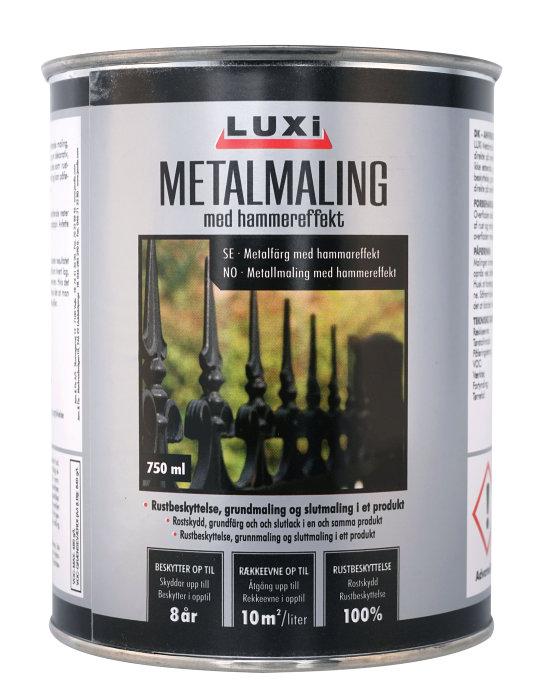 Luxi metallfärg hamrad effekt - 750 ml