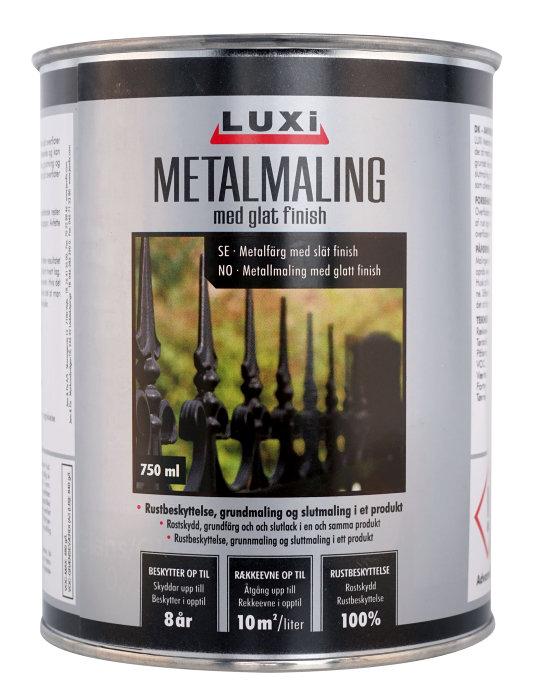 Luxi metallfärg slät finish -250 ml