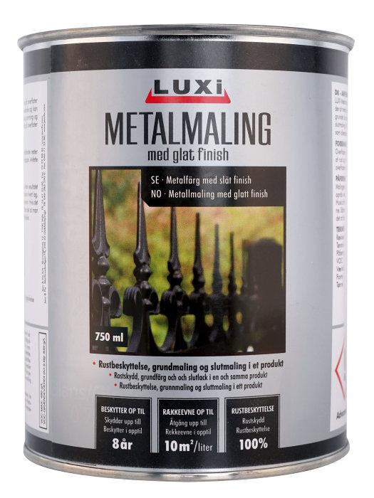 Metalmaling hvid 750 ml - Luxi