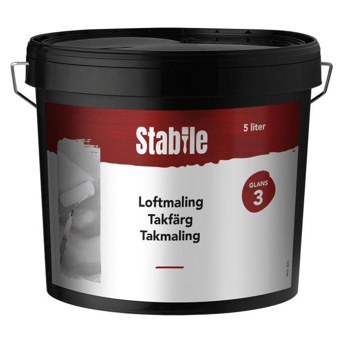 Loftmaling glans 3 hvid 5 liter - Stabile