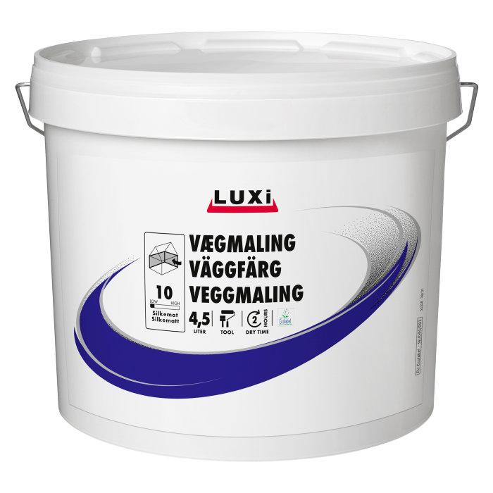 Veggmaling silkematt motehvit 5 liter glans 10  - Luxi