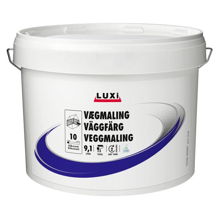 Vægmaling glans 10 hvid 10 liter - Luxi