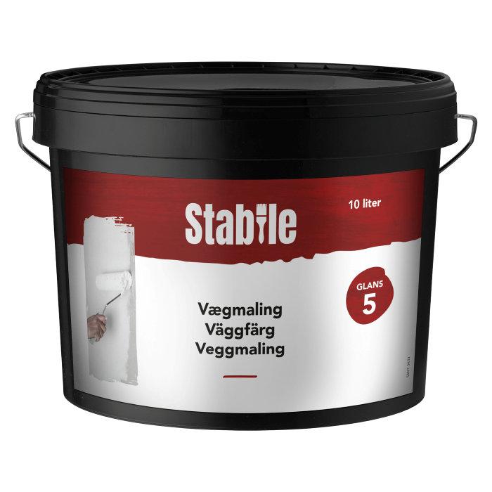 Vægmaling glans 5 modehvid 10 liter - Stabile