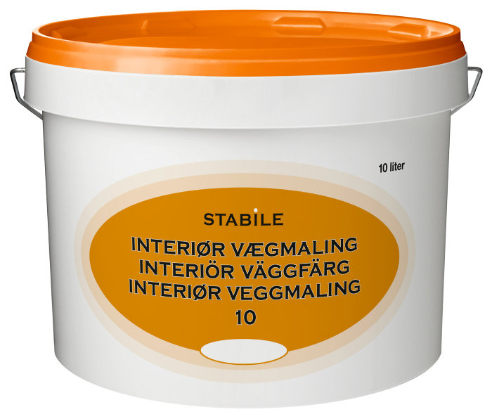 Vægmaling glans 10 fløde 10 liter - Stabile