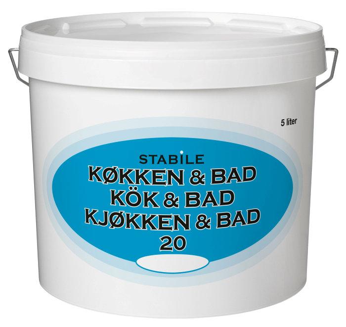 Vægmaling køkken/bad glans 20 fløde 5 liter - Stabile