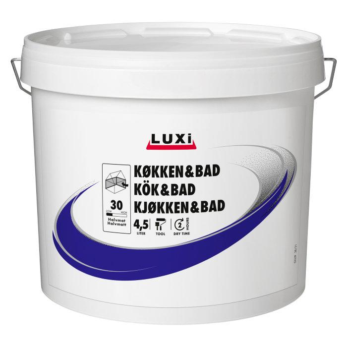 Vægmaling køkken/bad hvid 5 liter - Luxi
