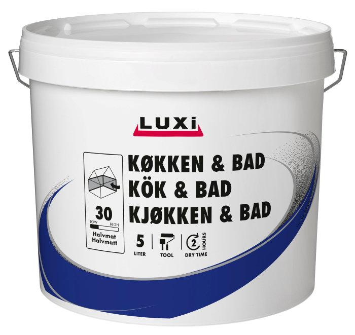 Vægmaling køkken/bad soft beige 5 liter - Luxi