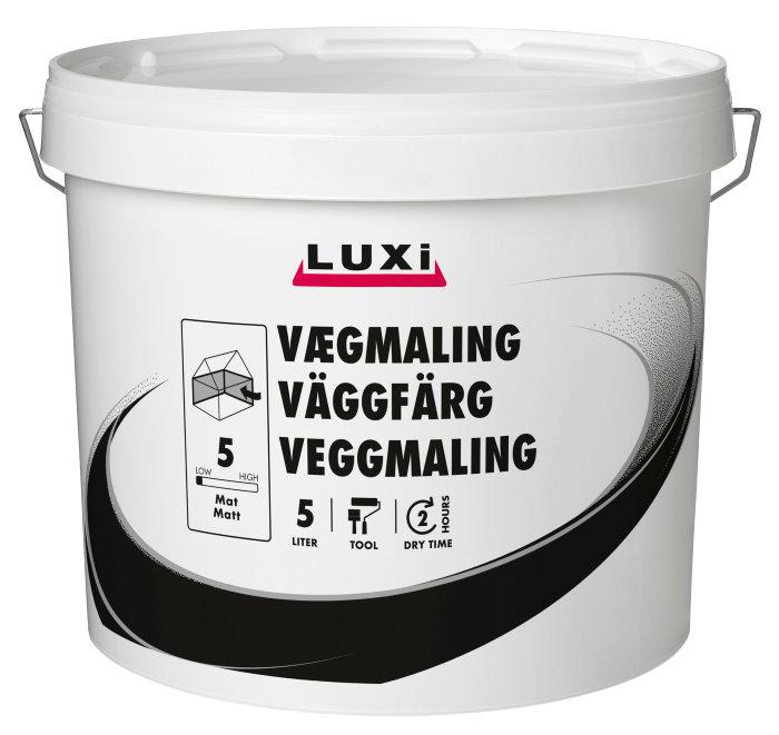 Vægmaling glans 5 thunder blue 5 liter - Luxi