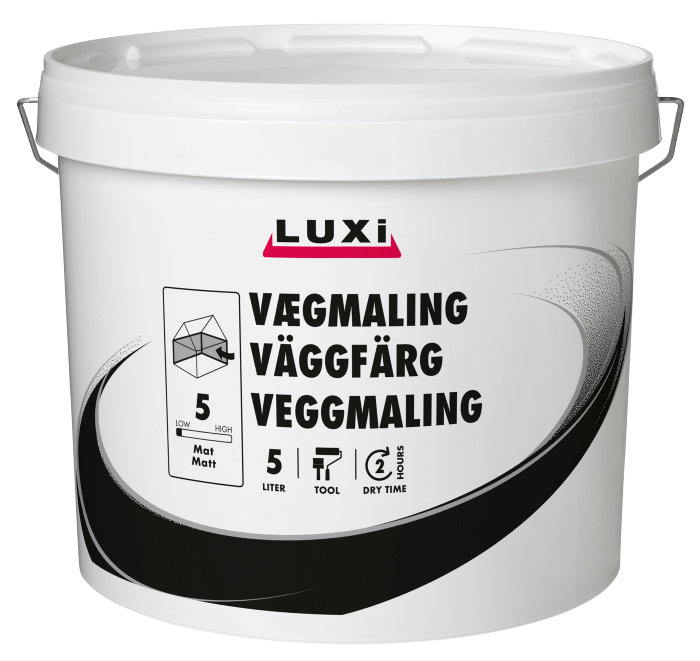 Luxi veggmaling, dusty mint, matt - 5 liter