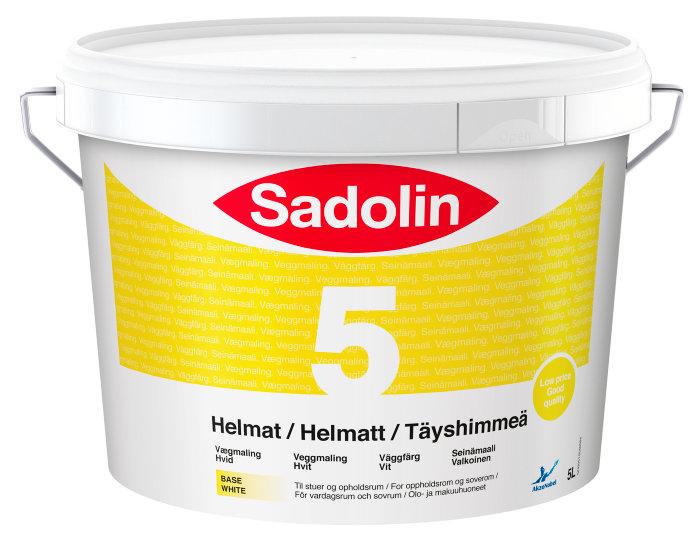 Sadolin Basic vægmaling helmat (5) hvid 5 liter