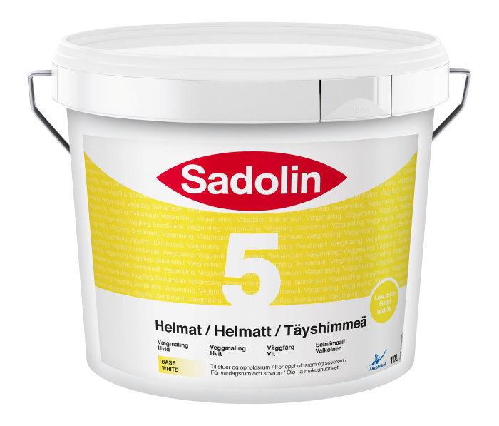 Sadolin Basic vægmaling helmat (5) hvid 10 liter