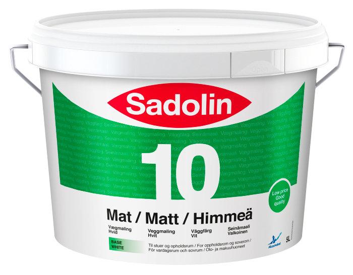 Sadolin Basic vægmaling mat (10) hvid 5 liter