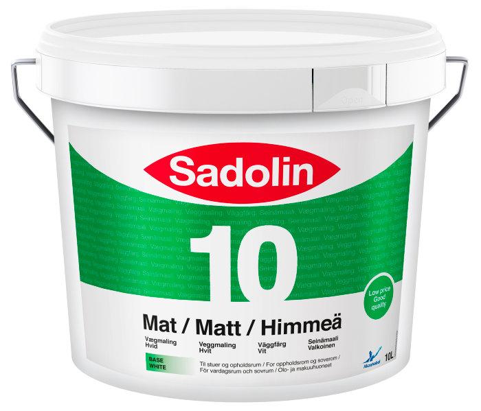 Sadolin Basic vægmaling mat (10) hvid 10 liter