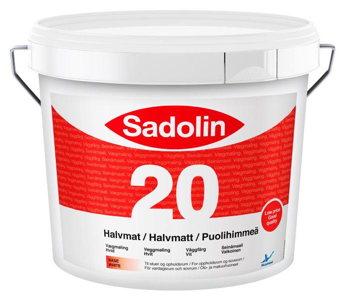 Sadolin Basic vægmaling halvmat (20) hvid 5 liter