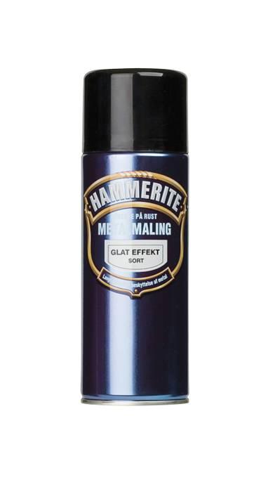 Hammerite metalmaling sort glat 400 ml