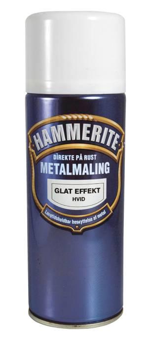 Hammerite metalmaling hvid glat 400 ml