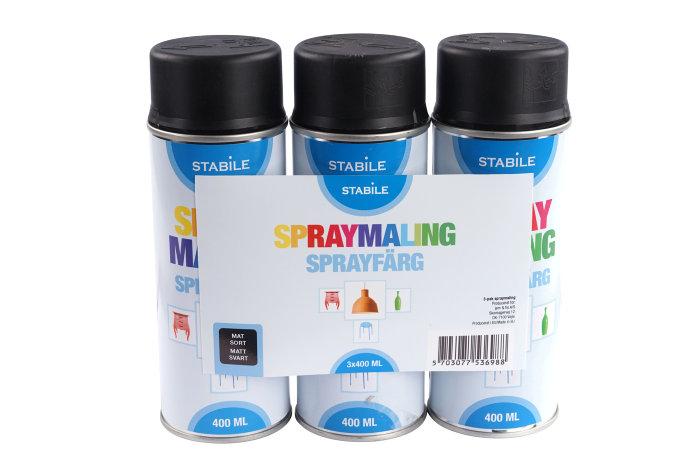 Stabile spraymaling 3x400 ml. mat sort