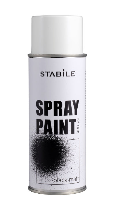 Sprayfärg Svart Matt STABILE