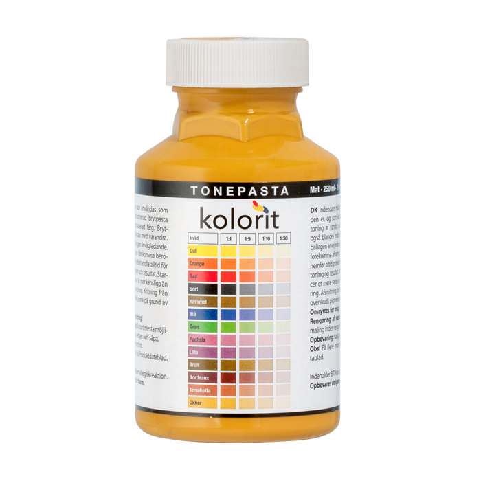 Tonepasta okker 0,25 liter - Kolorit