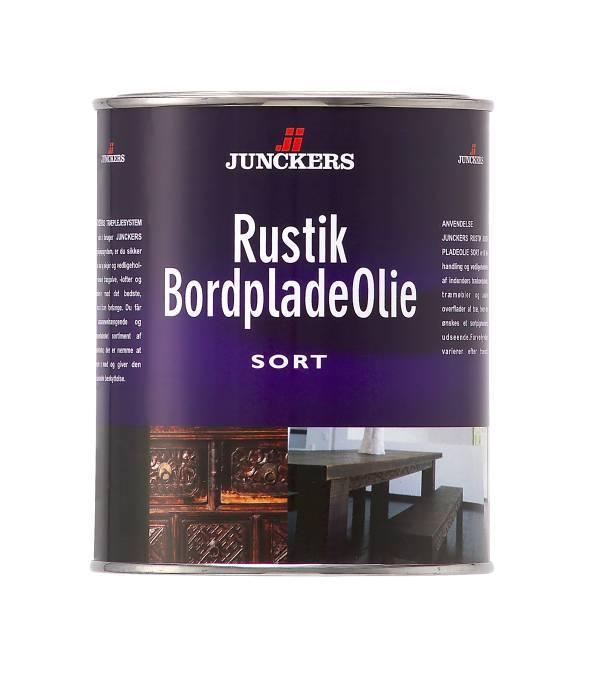 Junckers Rustik Bordpladeolie sort 0,75 liter