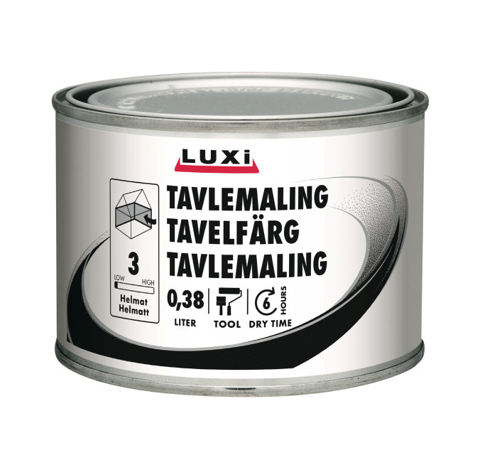 Tavlemaling sort vandbaseret 380 ml - Luxi