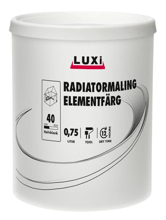 Radiatormaling hvit 0,75 liter - Luxi