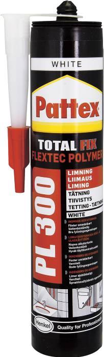Pattex montagelim PL300 hvid 300 ml
