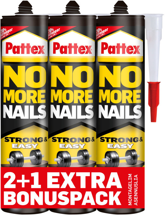 Pattex No More Nails montagelim 3 x 300 ml