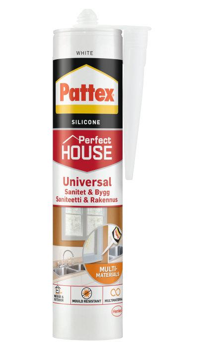 Pattex sanitets- og byggesilikone hvid