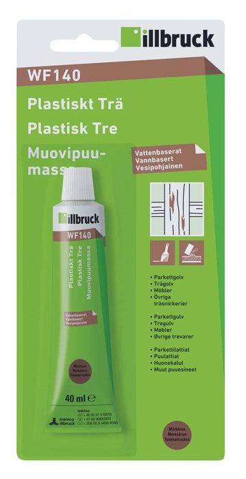 Plastiskt trä WF140 mörkbrun
