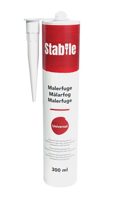 Malerfuge hvid 300 ml - Stabile