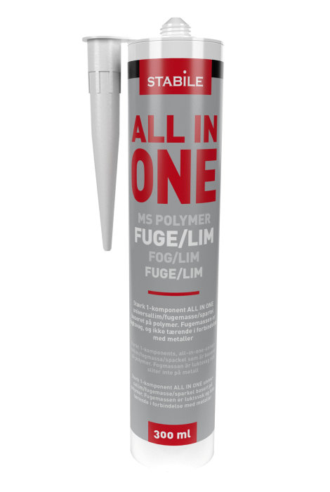 MS fuge all in one hvid 300 ml - Stabile