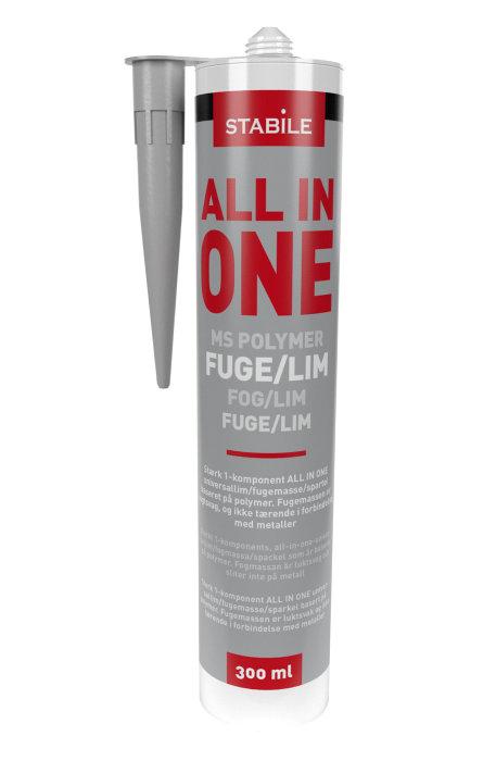 MS fuge all in one grå 300 ml - Stabile