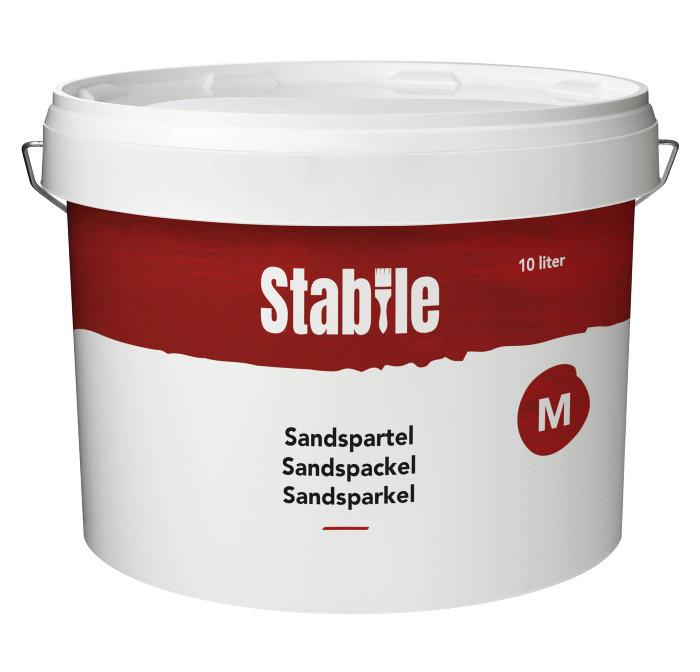 Sandspartel M 10 liter lys grå - Stabile