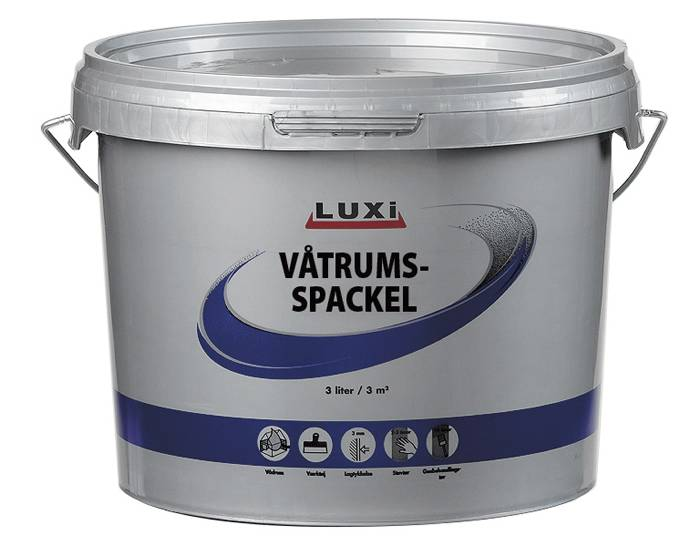 Våtrumsspackel 3 L LUXi