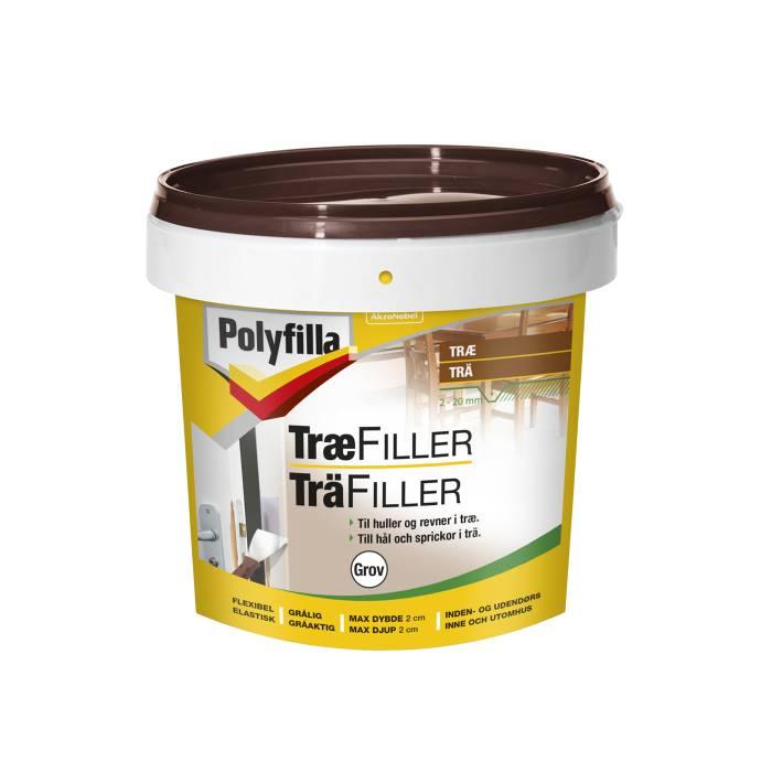 Polyfilla træfiller grov 1 kg.