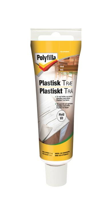Polyfilla plastisk træ hvid 50 ml