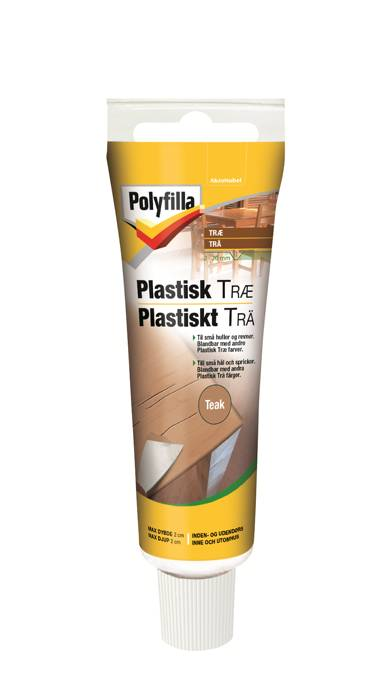 Polyfilla plastisk træ teak 50 ml
