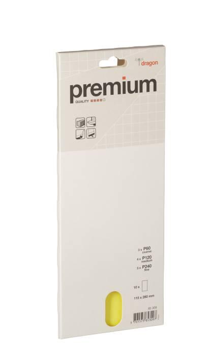Sandpapir i ark - 115 x 280 mm