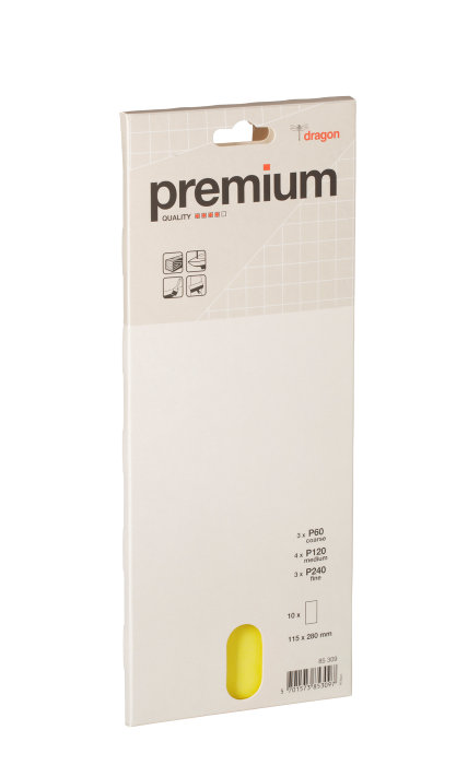 Slipepapir Prem. power ass.115x280mm ark