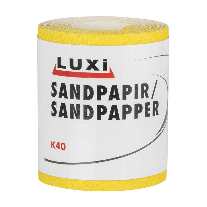 Sandpapir rulle korn 40 – 93 mm x 5 m
