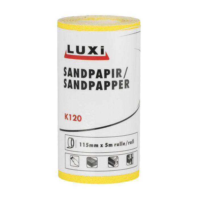 Sandpapir rulle korn 120 - 115 mm x 5 meter