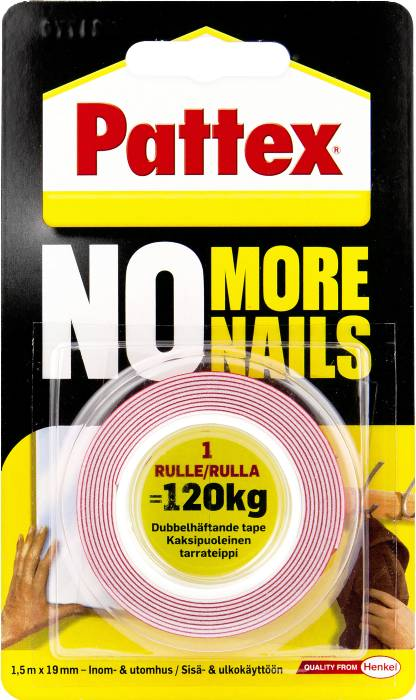 Pattex No More Nails montagetape 1,5 meter