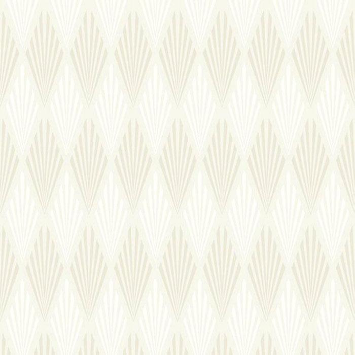 Tapet Fiona Art Deco Beige Vit