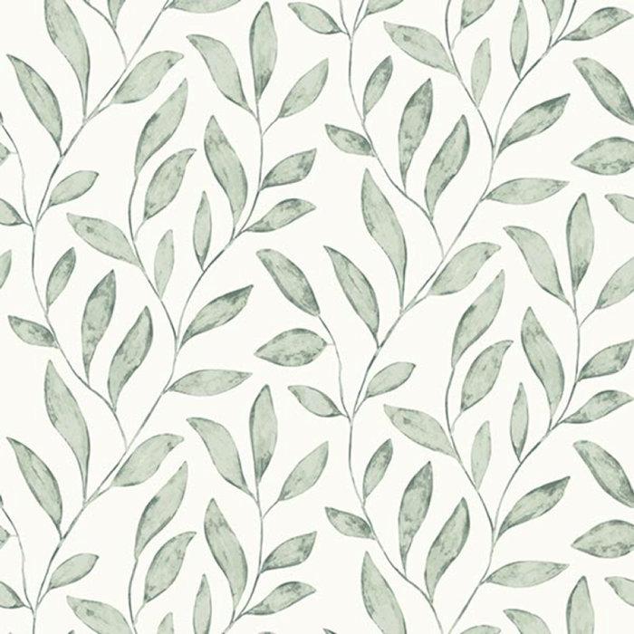 Tapet Fiona Soft Leaves Grön