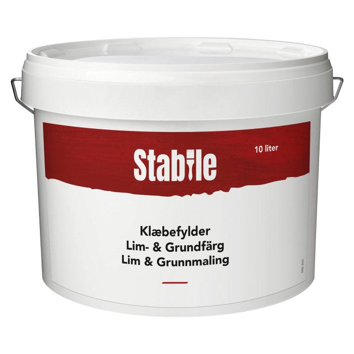 Klæbefylder hvid 10 liter - Stabile