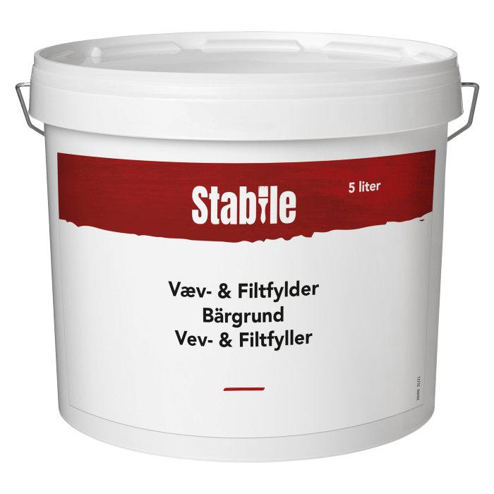 Væv- & filtfylder hvid 5 liter - Stabile