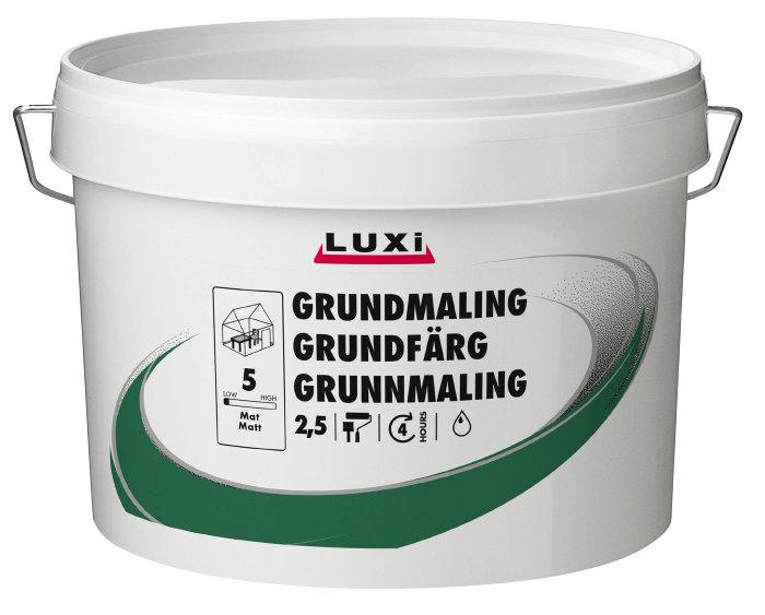 Grundmaling hvid acryl 2,5 liter - Luxi