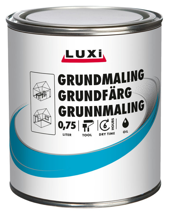 Grundmaling hvid oliebaseret 0,75 liter - Luxi
