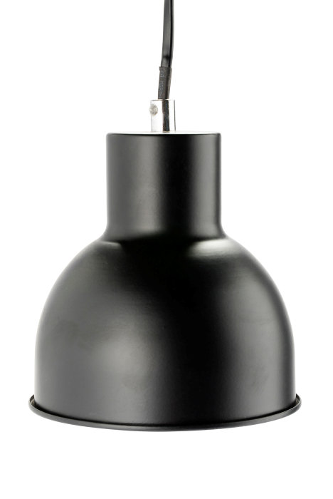 Pendel Ø14 cm metal mat sort